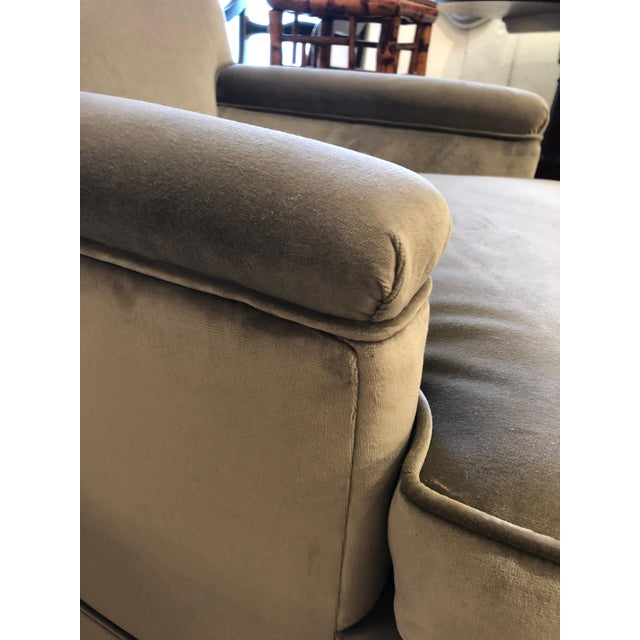 Brown Moviestar Grey Platinum Pair of Vintage Club Lounge Chairs For Sale - Image 8 of 10