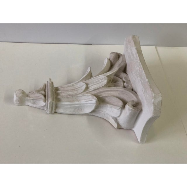 Neoclassical White Acanthus Carved Plaster Wall Bracket For Sale In Atlanta - Image 6 of 12