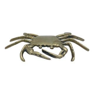 Vintage Coastal Brass Crab For Sale