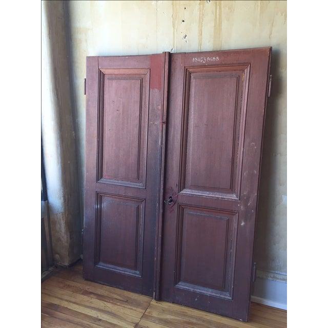 Brown Italian Antique Cellar Doors For Sale - Image 8 of 9