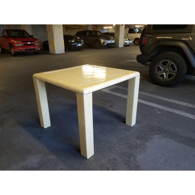 1970's Tessellated Bone Gaming Table For Sale - Image 12 of 12