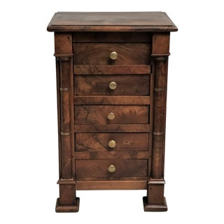 Early 19th C. Empire Period Walnut Night Stand For Sale