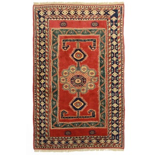 RugsinDallas Hand Knotted Wool Turkish Rug - 5′3″ × 8′4″ For Sale