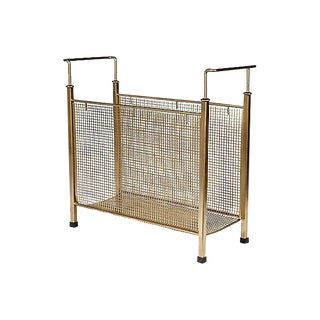 1960s Gilt Mesh Magazine Holder For Sale