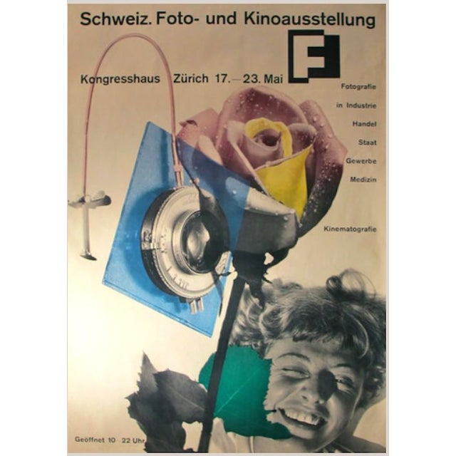 Abstract Expressionism 1951 Honegger-Lavater Swiss Exhibition Poster For Sale - Image 3 of 3