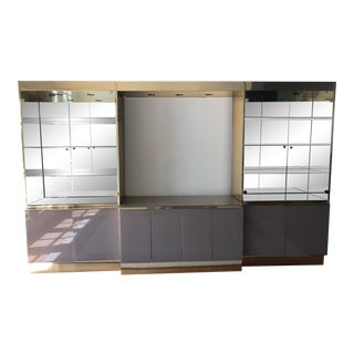 Modern Display Wall Unit For Sale
