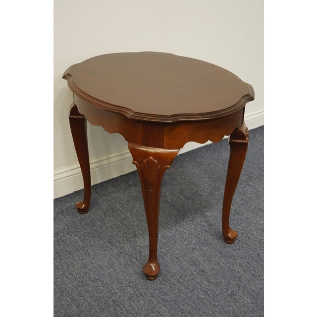 Traditional Ethan Allen Georgian Court End Table For Sale - Image 3 of 11