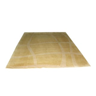 """Hand-Woven Modernist Wool Rug 8'-2"""" X 10'-6"""" For Sale"""