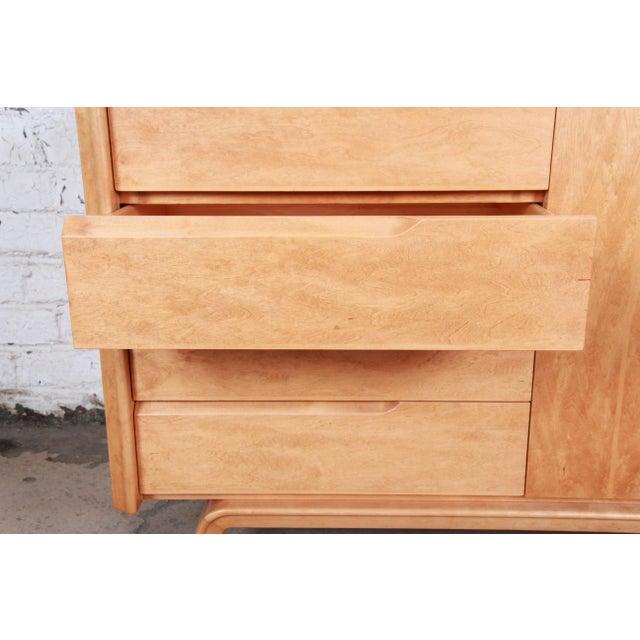 Edmond Spence Swedish Modern Maple Sideboard Credenza, Newly Refinished For Sale - Image 9 of 13