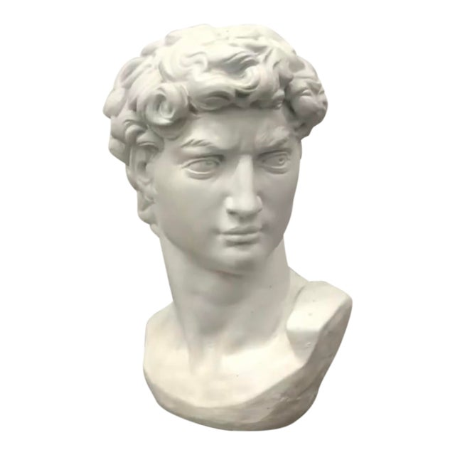 Concrete Head of David Statue For Sale