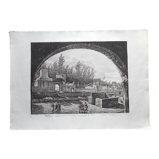 Antique Italian Architectural Engraving-Luigi Rossini-Pompeii-Elephant Folio-Early 19th C. For Sale