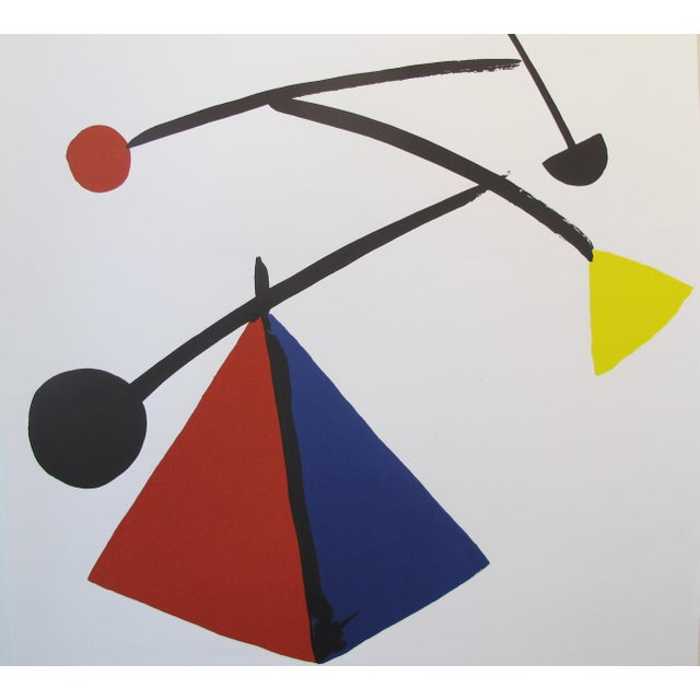 Paper 1992 Original Exhibition Poster, Institut Français De Prague - Calder For Sale - Image 7 of 7
