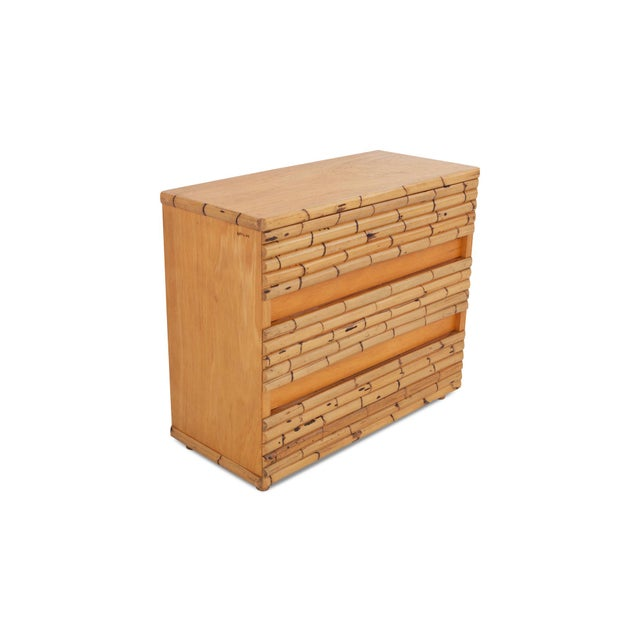 Hollywood Regency Venturini Bamboo Chest of Drawers For Sale - Image 3 of 10