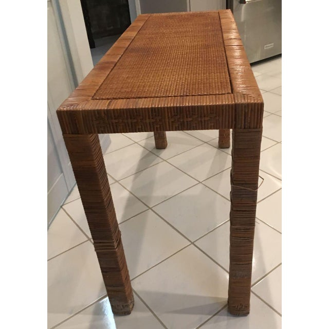 Modern Late 20th Century Billy Baldwin Style Console Table For Sale - Image 3 of 9