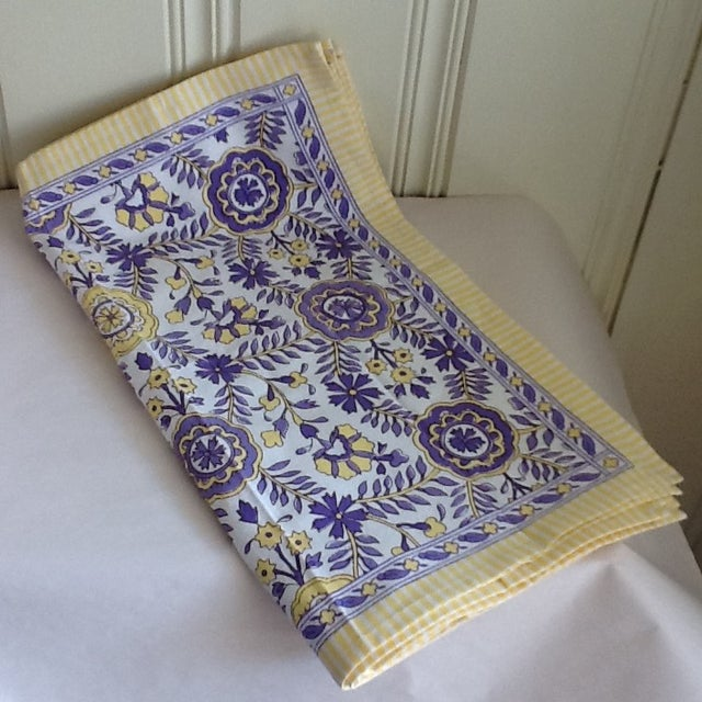 Tuscany Style Tablecloth & Napkins - Set of 8 For Sale - Image 5 of 10