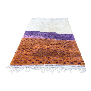 Modern Moroccan Wool Rug-5′11″ × 9′ For Sale