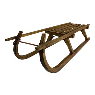 Antique German Child's Sleigh For Sale
