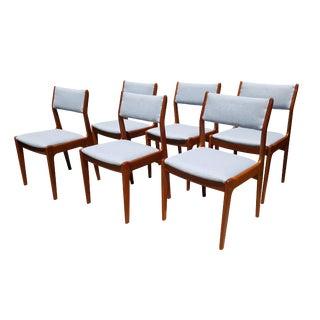 Danish Mid-Century Modern Teak Dining Chairs - Set of 6