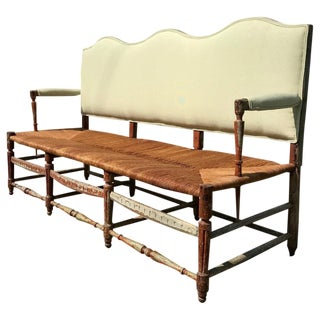 18th Century French Provincial Hall Bench For Sale
