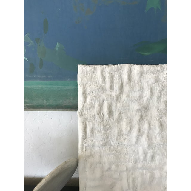 """Contemporary """"Gridlines"""" Minimalist Plaster Painting For Sale - Image 3 of 6"""