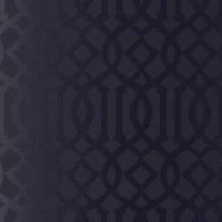 Schumacher Imperial Trellis Wallpaper in Onyx Gloss Black - 2-Roll Set (9 Yards) Preview