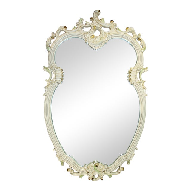 Painted Rococo Mirror For Sale