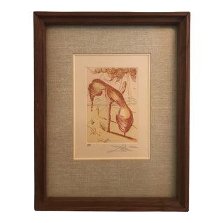 Salvador Dali Colored Etching, Artist Proof For Sale