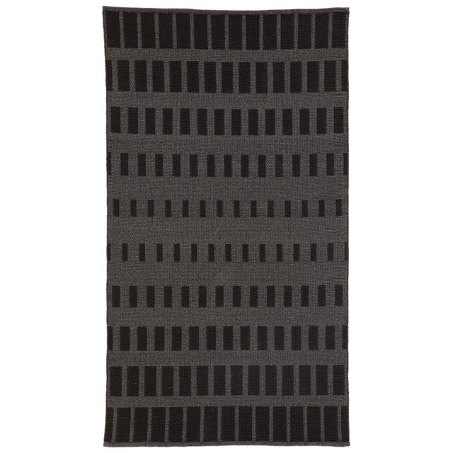 Nikki Chu by Jaipur Living Vaise Indoor/ Outdoor Geometric Gray/ Black Area Rug - 7′6″ × 9′6″ For Sale In Atlanta - Image 6 of 6