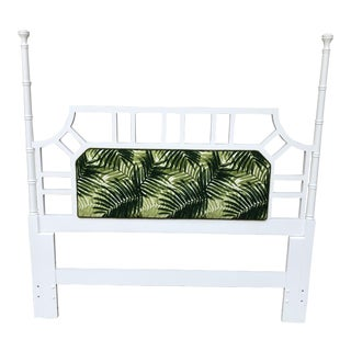 1980s Palm Beach Regency Faux Bamboo Lattice Headboard For Sale