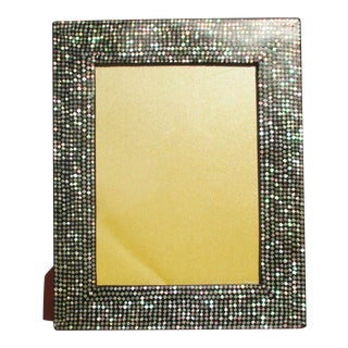Vintage 1970s Mother of Pearl Photo Frame For Sale