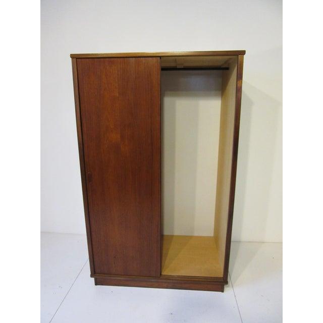 Mid 20th Century Mid-Century Danish Modern Teak Wardrobe / Armoire For Sale - Image 5 of 11