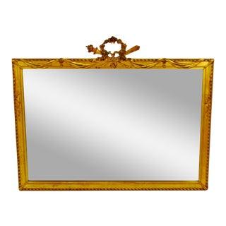 Vintage Framed Gold Gilt Swag Design Wall Mirror For Sale