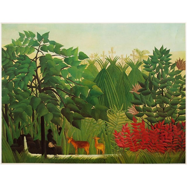 """1966 Henri Rousseau, """"The Waterfall"""" Photogravure From Milan For Sale - Image 10 of 11"""