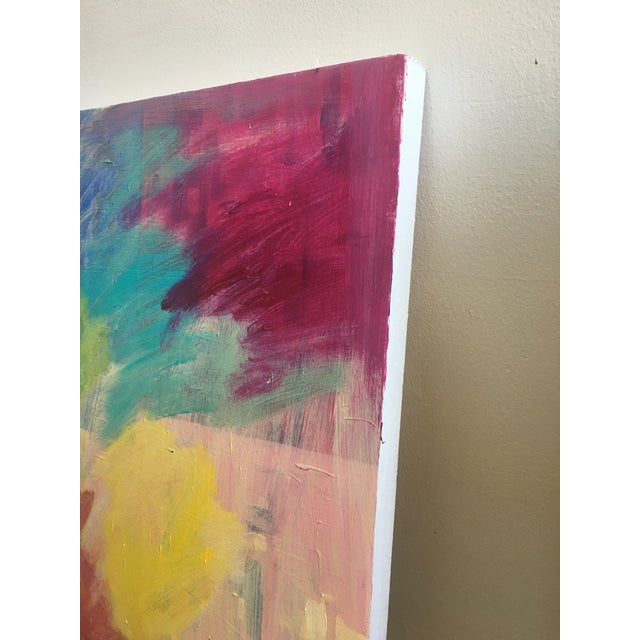Original Abstract Painting on Wood - Image 4 of 6