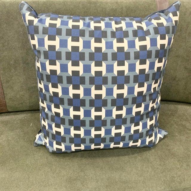 Hermès Hermes Pavage Imprime Geometric Pillows For Sale - Image 4 of 4