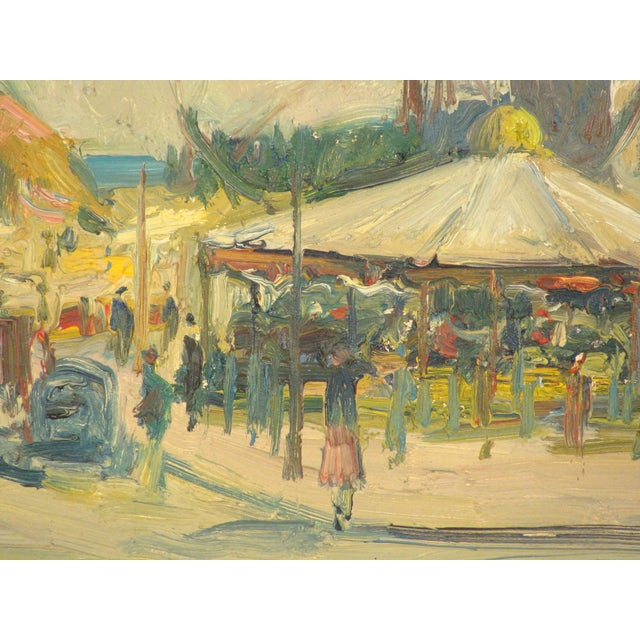 Canvas Carnival Scene Painting by Zoma Baitler For Sale - Image 7 of 13