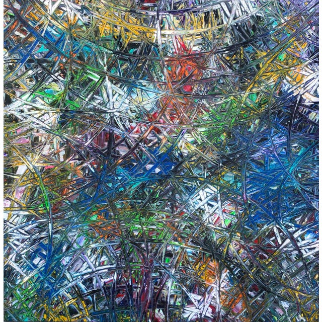 """Acrylic Painting by Artist Troy Smith - 79"""" X 79"""" - Contemporary Art - Abstraction For Sale - Image 13 of 13"""