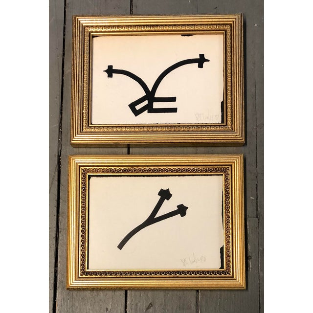 Paint Gallery Wall Collection 2 Robert Cooke Abstract Paintings 1980's For Sale - Image 7 of 7