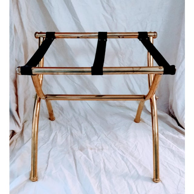 Late 20th Century Brass Luggage Rack / Valet For Sale - Image 6 of 11