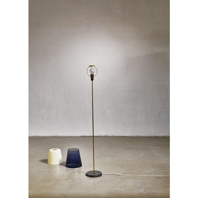 Mid-Century Modern Yki Nummi Floor Lamp With Two Layered Shade for Orno, Finland, 1960s For Sale - Image 3 of 5