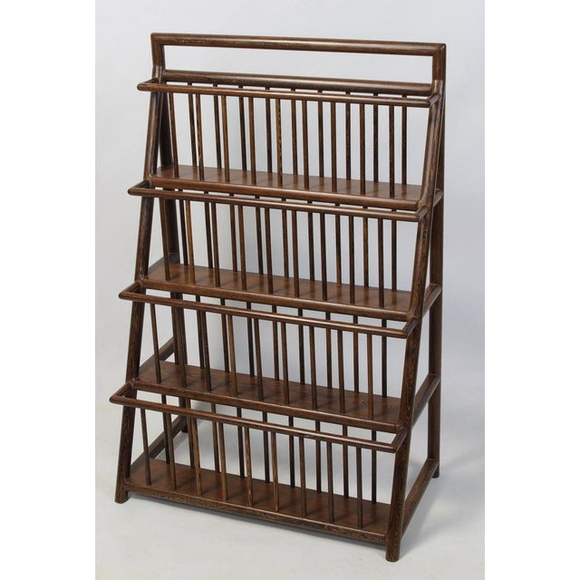 Brown Large and Unusual Mid-20th Century Magazine Rack For Sale - Image 8 of 9