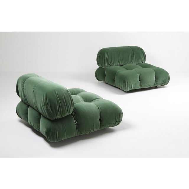 Postmodern 1970s Mario Bellini Camaleonda Lounge Chair in Pierre Frey Mohair For Sale - Image 3 of 9