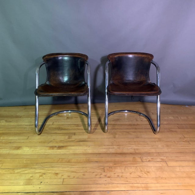 Italian Vintage Willy Rizzo Dining Chairs for Cidue, Italy 1970s For Sale - Image 3 of 13