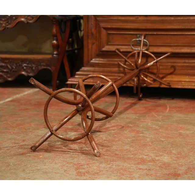 Mid-20th Century French Bentwood Swivel Coat Stand or Hat Rack Thonet Style For Sale In Dallas - Image 6 of 7