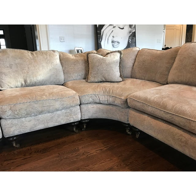 Tan Custom Dino Mark Anthony Sectional For Sale - Image 8 of 10