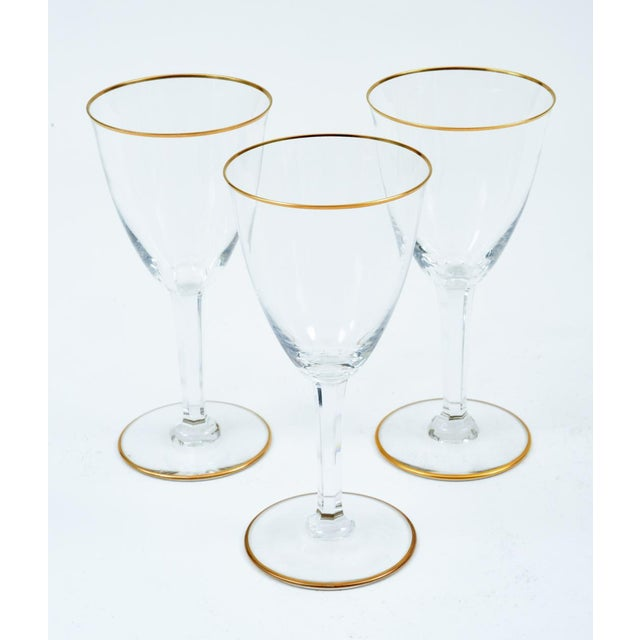 Mid 20th Century Baccarat Crystal Barware / Tableware Glassware - Set for 8 For Sale - Image 5 of 11