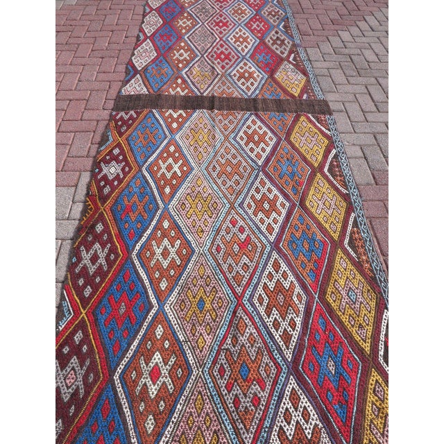 "Boho Chic Oversized Kilim Runner Rug - 4' X 22'11"" For Sale - Image 3 of 9"
