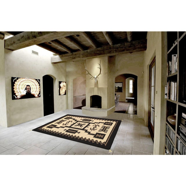 "Navajo Decorative Hand-Woven Rug - 3'11"" X 6'1"" - Image 3 of 3"