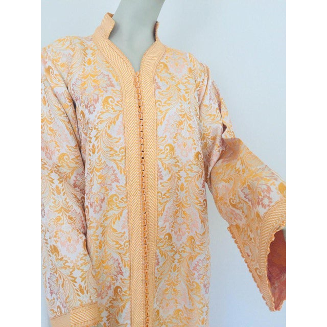 1970s Moroccan Caftan in Gold Brocade For Sale - Image 5 of 13