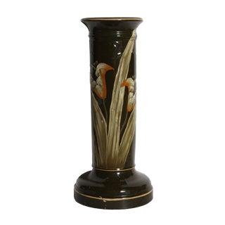 Orange Lily Porcelain Lamp Base For Sale